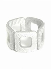 JEST JEWELS Square Stretch Bracelet-Silver