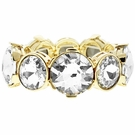 JEST JEWELS Stretch Mixed Round Crystal Bracelet-Gold