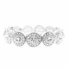 JEST JEWELS Stretch Round Deco Bracelet-Silver