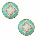 JEST JEWELS Turquoise Clover Lever Back Earrings