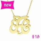 Large Monogram Gold Initial