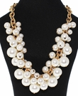 JEST JEWELS Pearl Bauble Gold Necklace