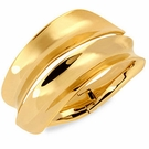 ROBERT LEE MORRIS Gold-Tone Concave Hinged Bangle