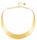 ROBERT LEE MORRIS Gold-Tone Half Moon Frontal Necklace
