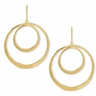 ROBERT LEE MORRIS Gold-Tone Orbital Drop Earrings
