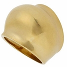 ROBERT LEE MORRIS Gold-Tone Sculptural Bubble Ring