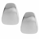 ROBERT LEE MORRIS Silver-Tone Wide Wedge Clip-On Earrings