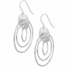ROBERT LEE MORRIS Silver-Tone Triple Orbital Hook Earrings
