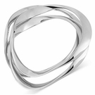ROBERT LEE MORRIS Silver-Tone Wavy Bangle Bracelets