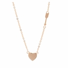Rose Gold Vermeil Heart & Arrow Necklace