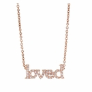 Rose Gold Vermeil Loved Pave Necklace