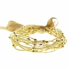 JEST JEWELS Set 13 Gold Guitar String Stretch Bracelets