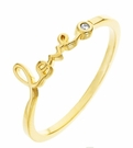 SHY By Sydney Evan Love Ring-Gold