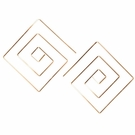 Square Spiral Earrings-Gold Filled