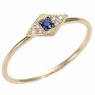 SYDNEY EVAN Diamond&Sapphire&14K Eye Ring
