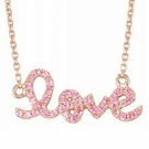 SYDNEY EVAN Pink Sapphire Rose Gold Love Necklace