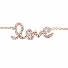 SYDNEY EVAN Script Love Bracelet-Rose Gold