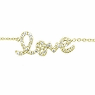 SYDNEY EVAN Script Love Bracelet-Yellow Gold