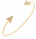 TAI Wire Thin Gold Arrow Cuff Bracelet