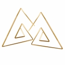 Triangle Spiral Earrings-Gold Filled