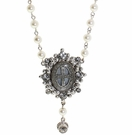 VIRGINS SAINTS AND ANGELS Pearl Oval San Benito Choker