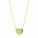 Yellow Gold Vermeil Heart Necklace