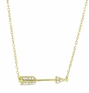 Yellow Gold Vermeil Pave Arrow Necklace