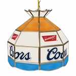 "16"" Coors Light Stained Glass Banquet Tiffany Lamp"