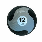 """FitBall  Weighted Medicine Ball (Grey 12lbs 9"""")"""