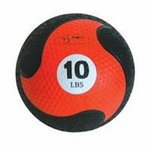 "FitBall Weighted Medicine Ball (Orange 10lbs 9"")"