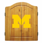 NCAA University of Michigan Imperial Dart Board and Cabinet