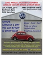 22nd ANNUAL BUCKEYE GERMAN JUBILEE VW CAR SHOW & SWAP MEET