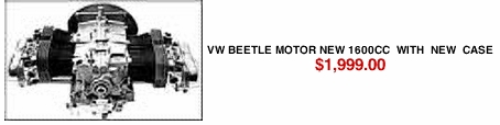 VW Beetle Motor New 1600cc  With  New  Case