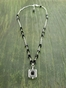 Atomic Square 47 Necklace with Black Onyx