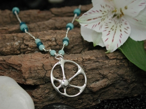 Atomic Sunrise Necklace with Amazonite & Apatite