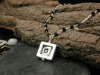 Atomic Supersquare Necklace with Black Onyx