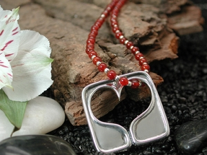 Big Open Heart with Carnelian