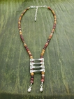 Bone Ladder Necklace with Mookaite