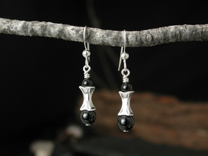 Corset Earrings<BR>with Black Onyx