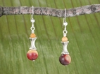 Corset Earrings<BR>with Mookaite