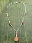 Corset Necklace with Mookaite