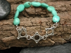 Cove Bracelet with Turquoise