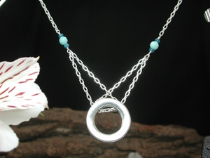 Full Moonlight Necklace with Amazonite & Apatite