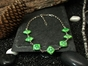 Green Cloisonne Necklace