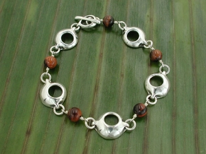Pod Chaser Bracelet with Red Tiger Eye