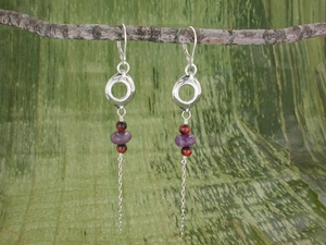 Pod Pullchain Earrings<BR>Dusk