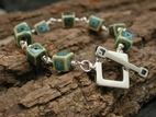 Porcelain & Toggle Bracelet