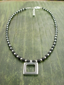 Simple Square with Black Onyx