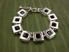 Square 47 Bracelet<BR>with Black Onyx