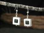 Square 47 Earrings with Black Onyx